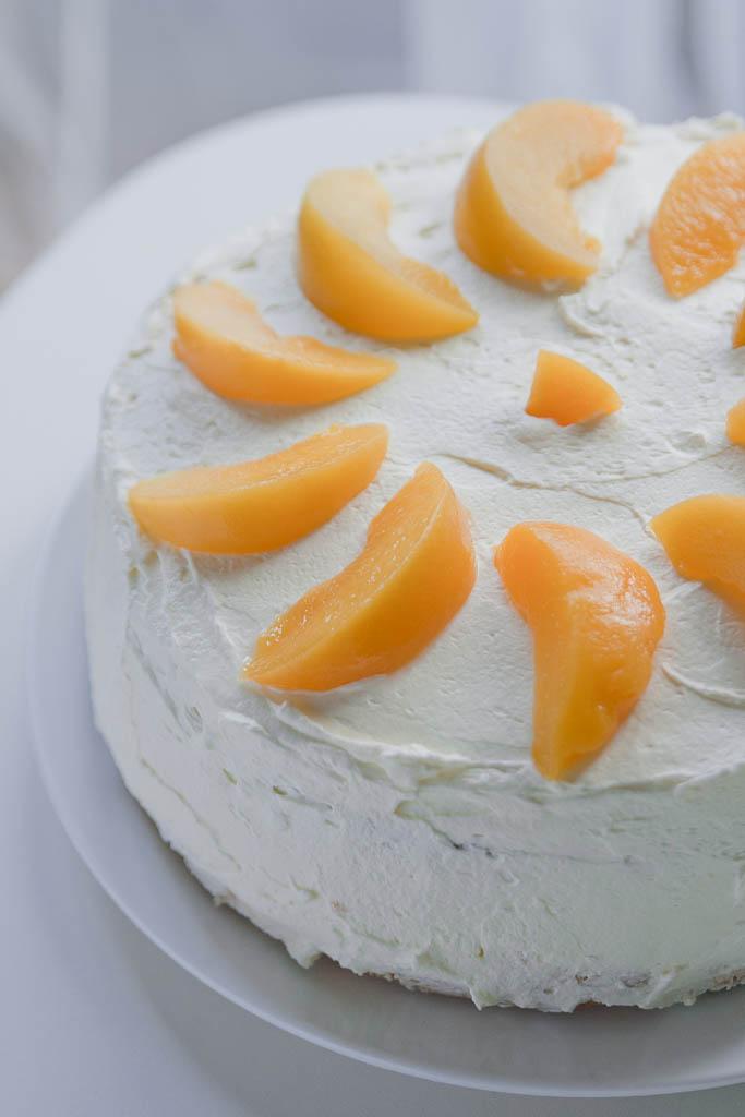 Pleasant Happy Birthday To Me Peach Torte Peach Birthday Cake Magdas Personalised Birthday Cards Paralily Jamesorg