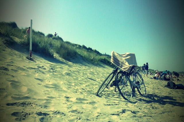 our bicycles on Portmarnock beach