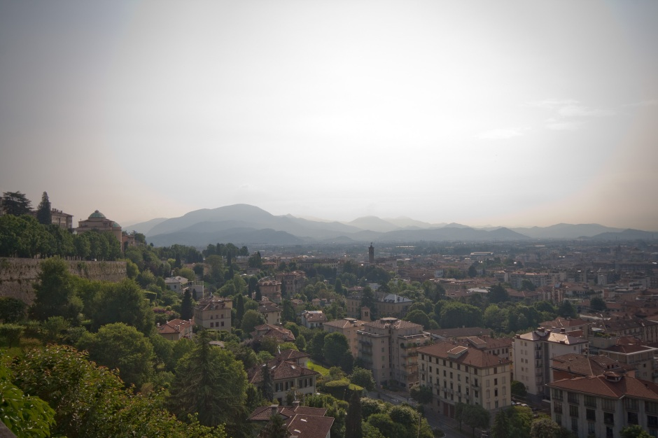 The view from Cita Alta, Bergamo
