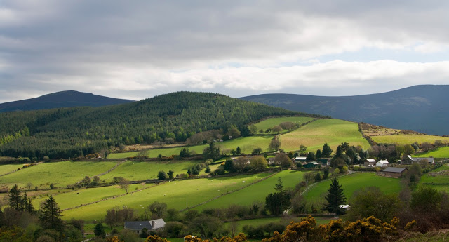 Wicklow Way, Ireland, mountains, hills, green