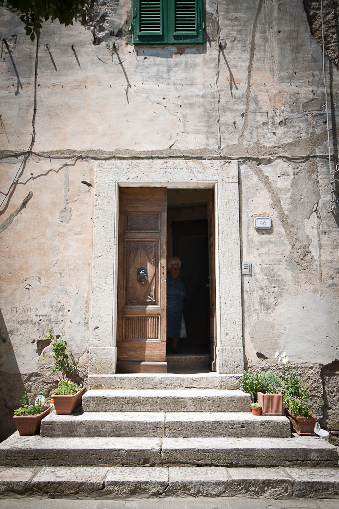 Open door in tuscany