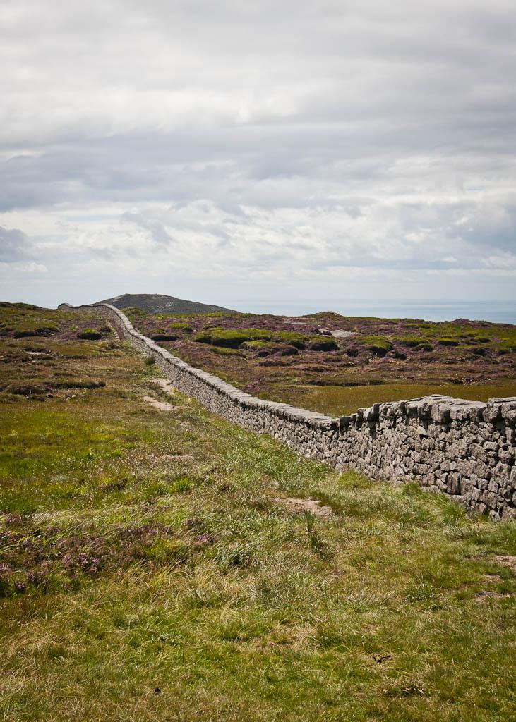 Slieve Donard - the wall