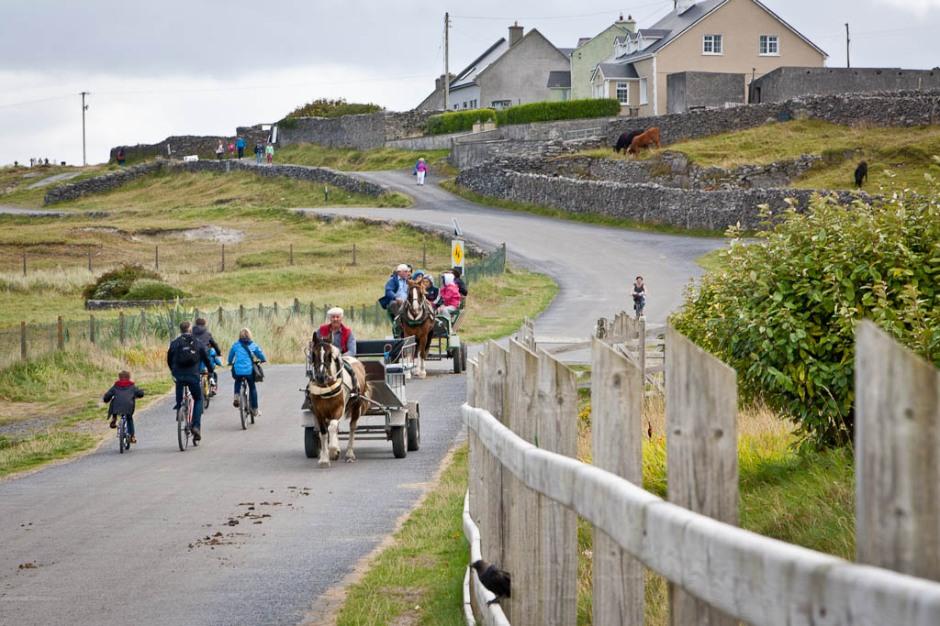 cycling in Inisheer (Arran Islands)