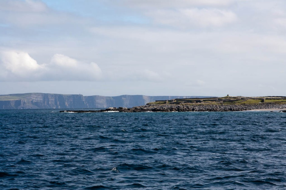 Cliffs of Moher from Inisheer (Arran Islands)