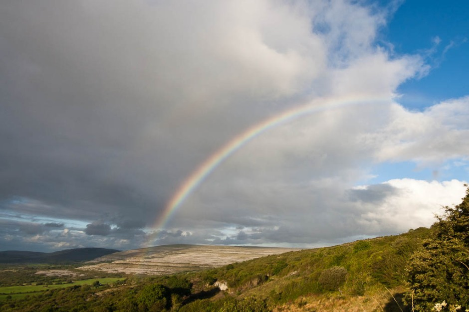rainbow in burren