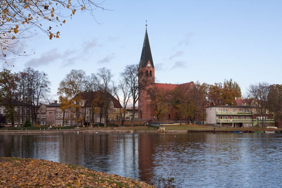 Wałcz - Church and lake