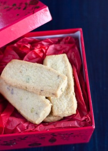 pistachio rose water cookies