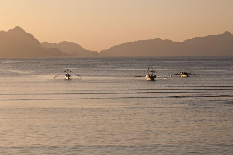 el nido sunset boats