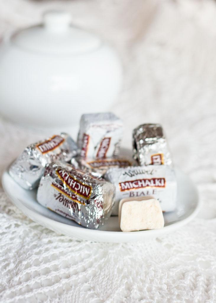 Polish sweets - Michałki białe