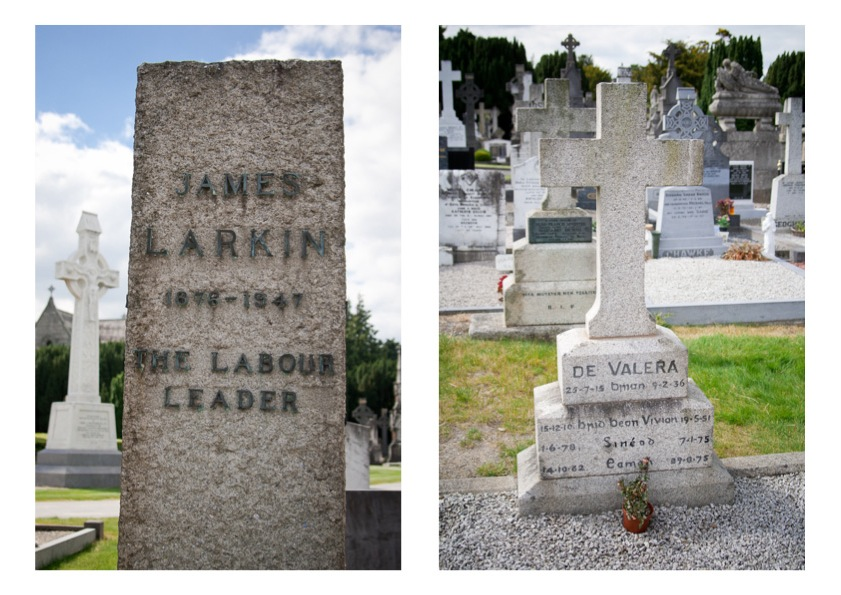 Glasnevin Cemetery - Larkin and De Valera graves