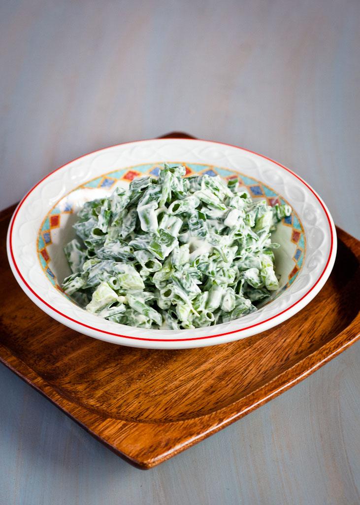 Green onion salad