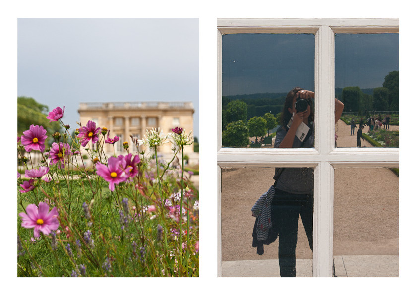 Versaille - selfie and flowers