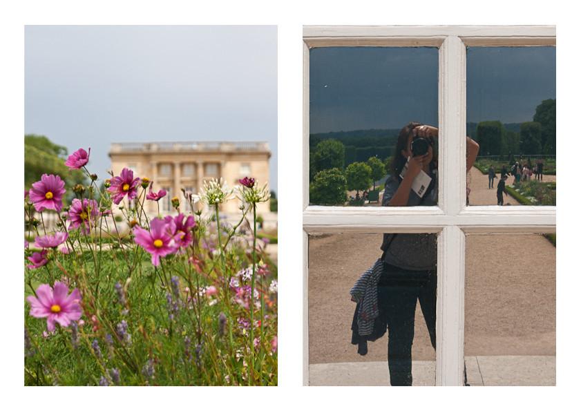 Versaille - selfie and flowers