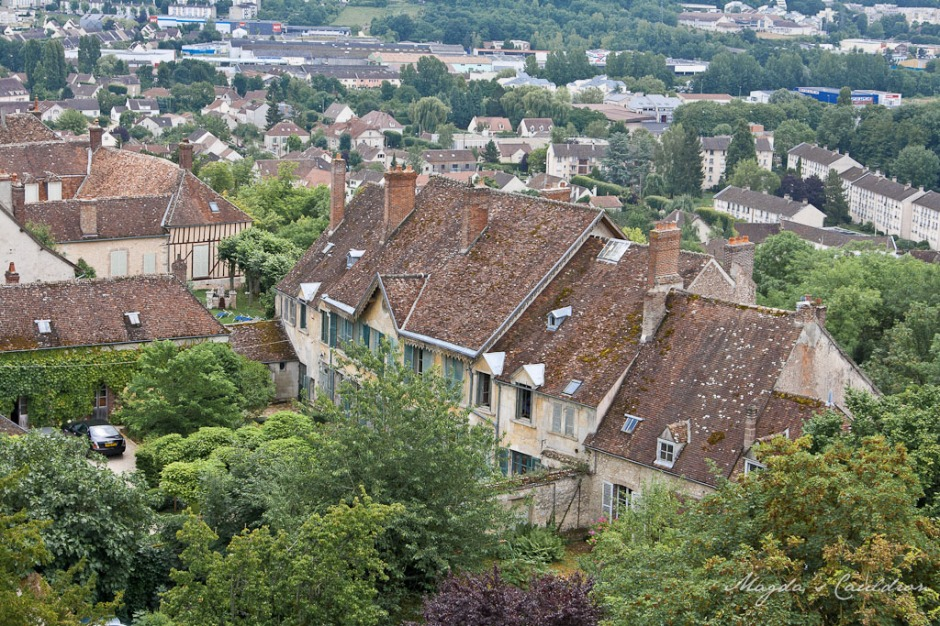 Provins - view over the city from Town of Medieval Fairs