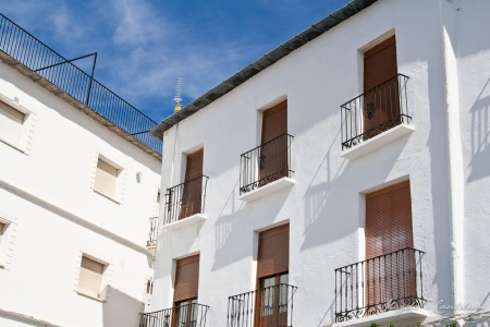 White buildings in Nevada, Spain