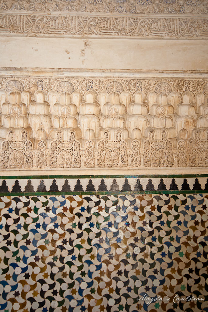 The Nasrid Palaces, Alhabra, Granada, Spain - the details