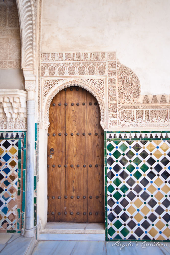 The Nasrid Palaces, Alhabra, Granada, Spain - the door