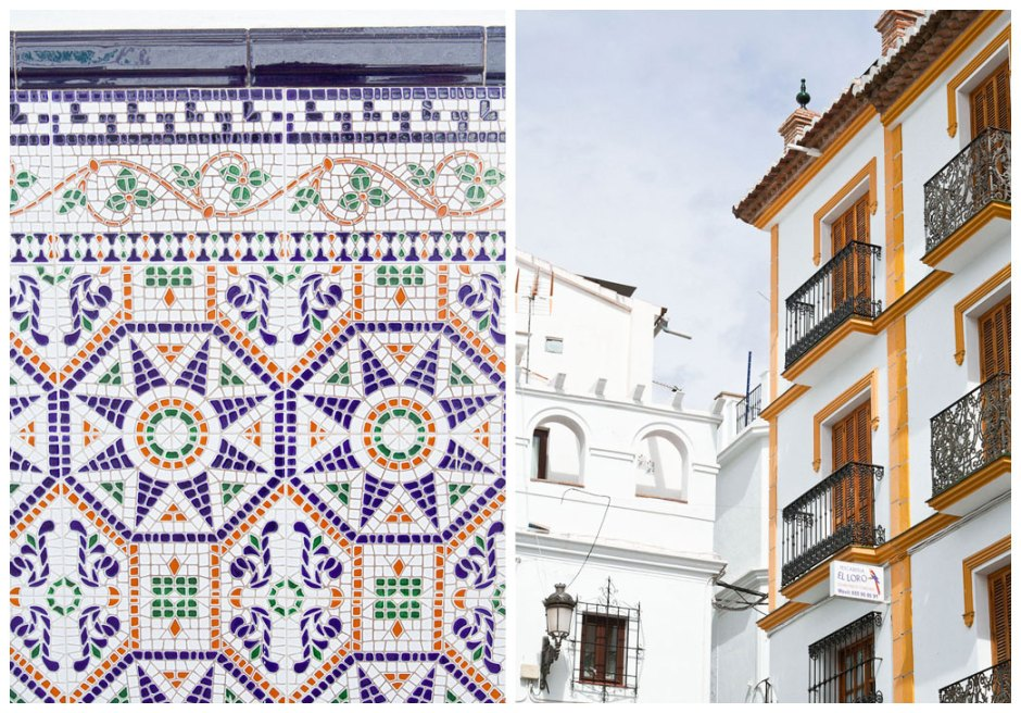 Spanish white village mosaique