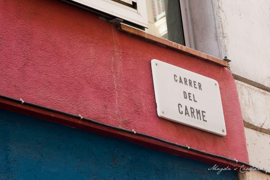 street name in Barcelona