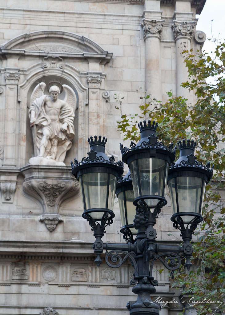 lamps and sculpture in Barcelona