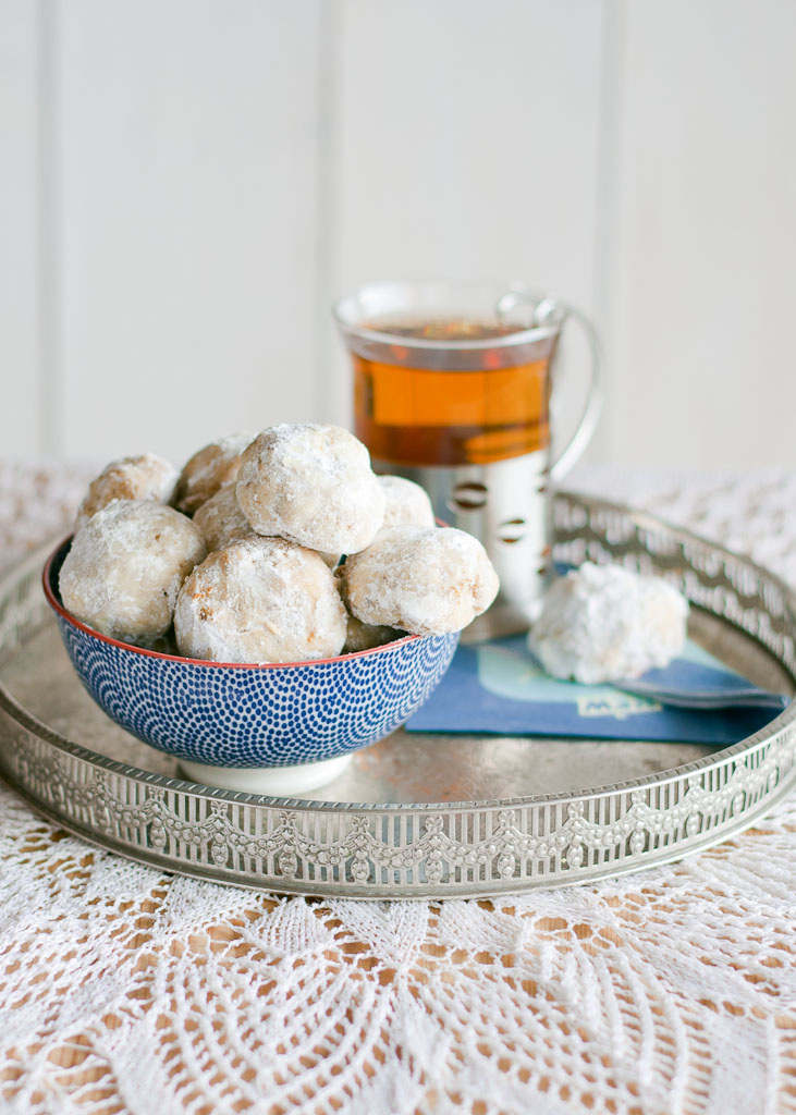 cardamom and rose water russian tea cookies
