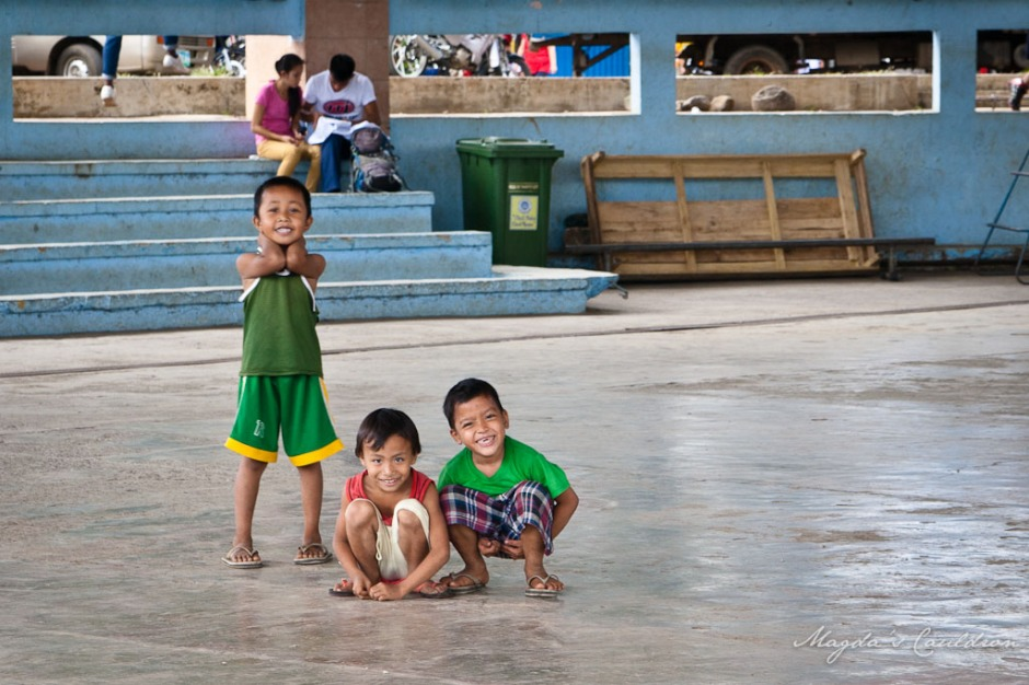 Boys smiling, Puerto Princesa
