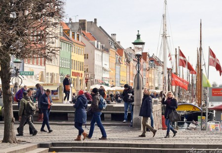 Tourists in Nyhavn, Copenhagen
